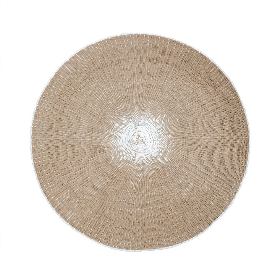 Taupe and White Natural Placemat