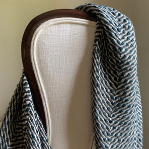 Herringbone Throw - Midnight
