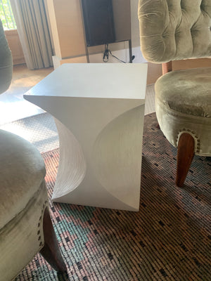 Mid Century Style White Side Table