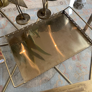 Brass Tray with Side Cut Details