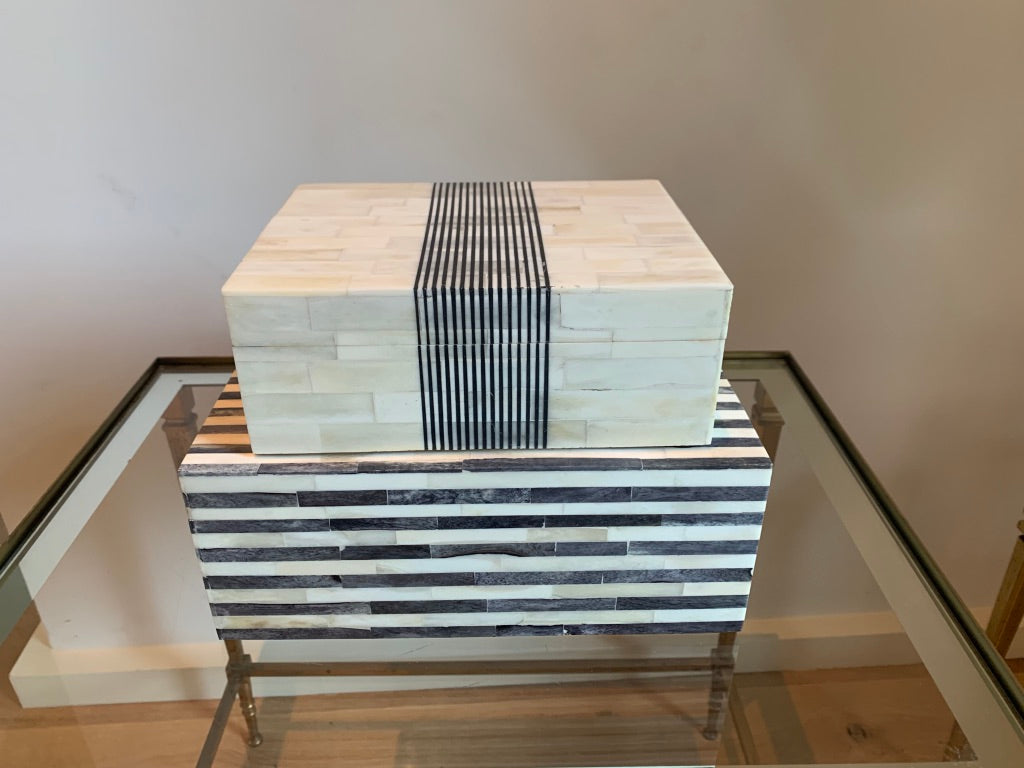 Black & White Stripe Bone Box Set