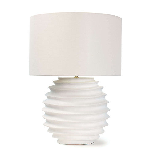 Accordian Lamp - White