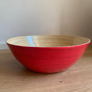 Large Shallow Bamboo Bowl - Available in Six Colors