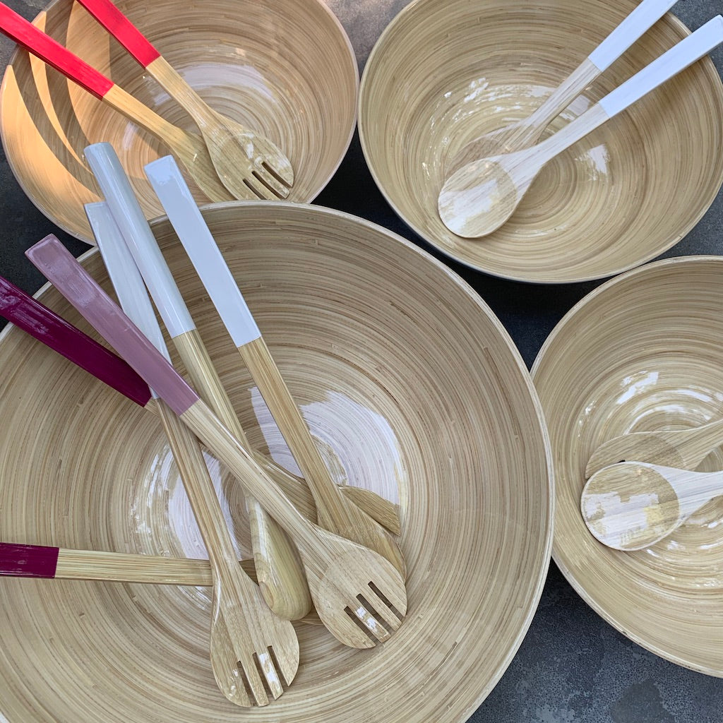 Small Bamboo Serving Set - Available in Six Colors