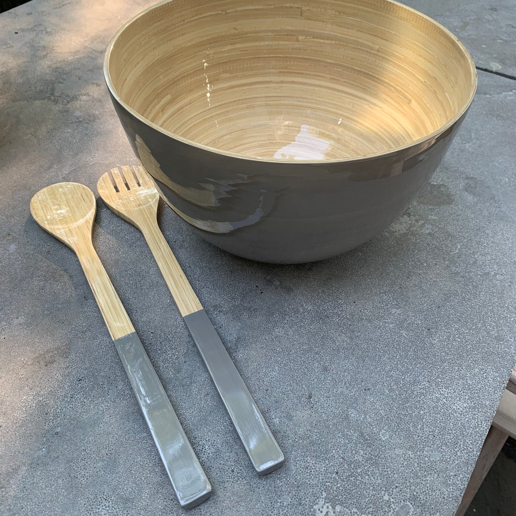 Tall Bamboo Serving Bowl - Available in 6 Colors