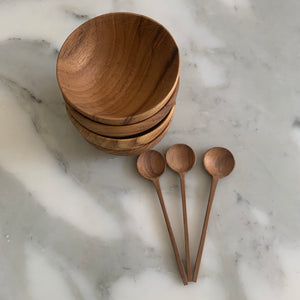 Tiny Wood Bowls & Spoons