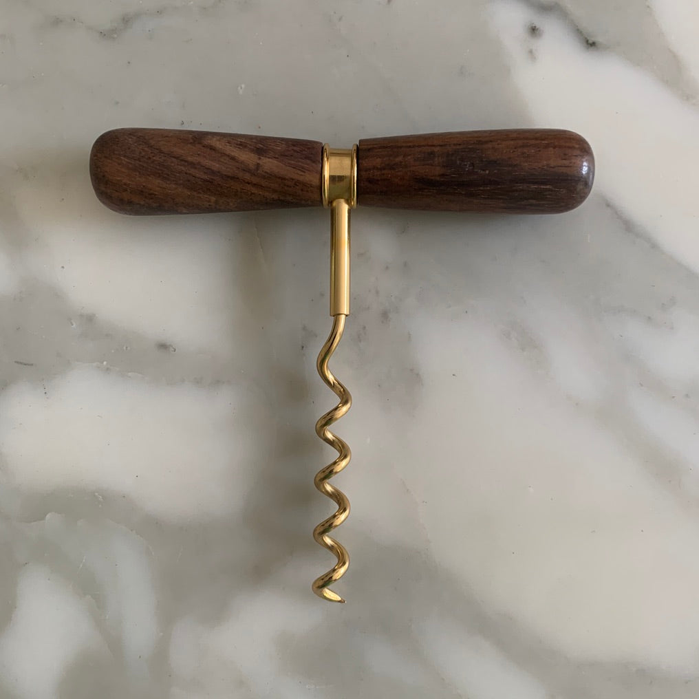 Gold & Wood Corkscrew