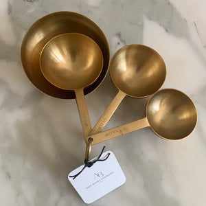 Gold Measuring Cups - Set of 4