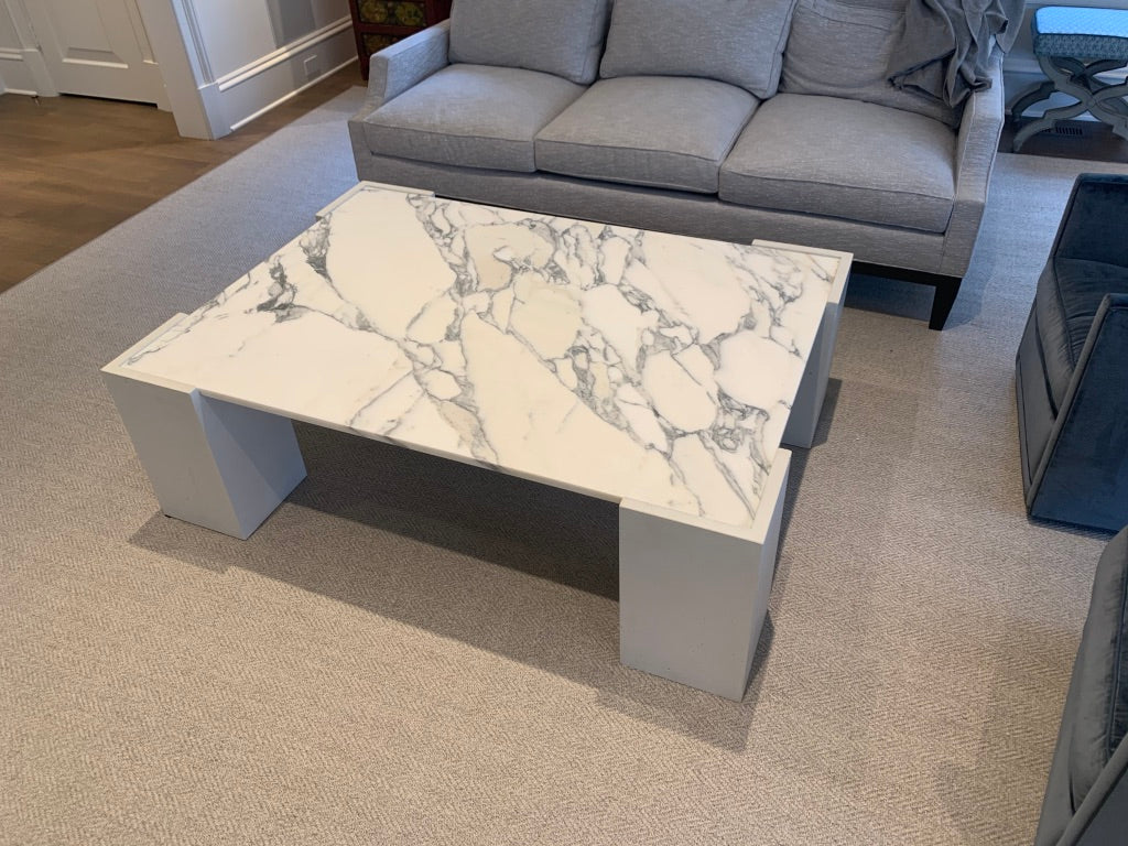 Concrete & Stone Coffee Table