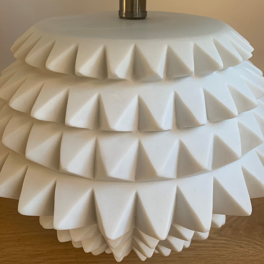 White Resin Deco Lamp