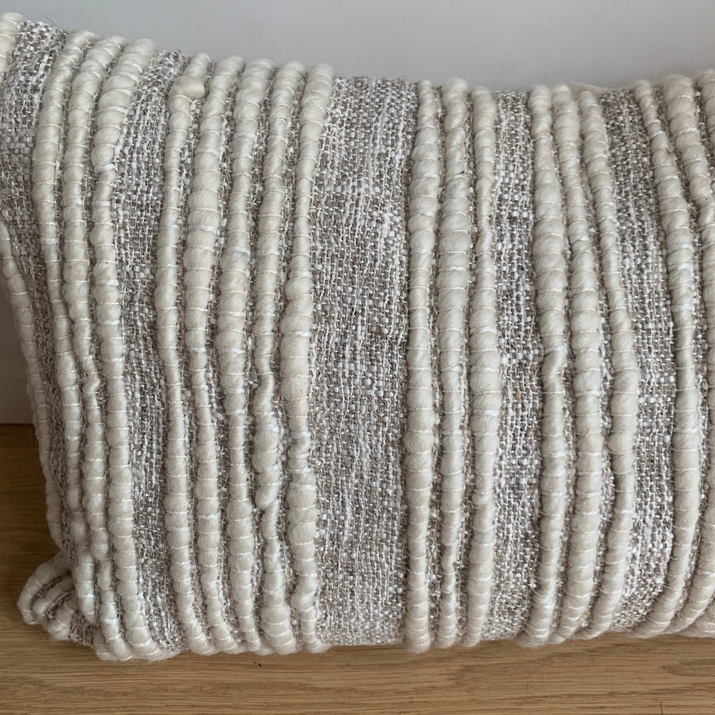 White Textured Pillow