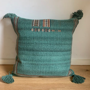 Green Pillow With Tassles