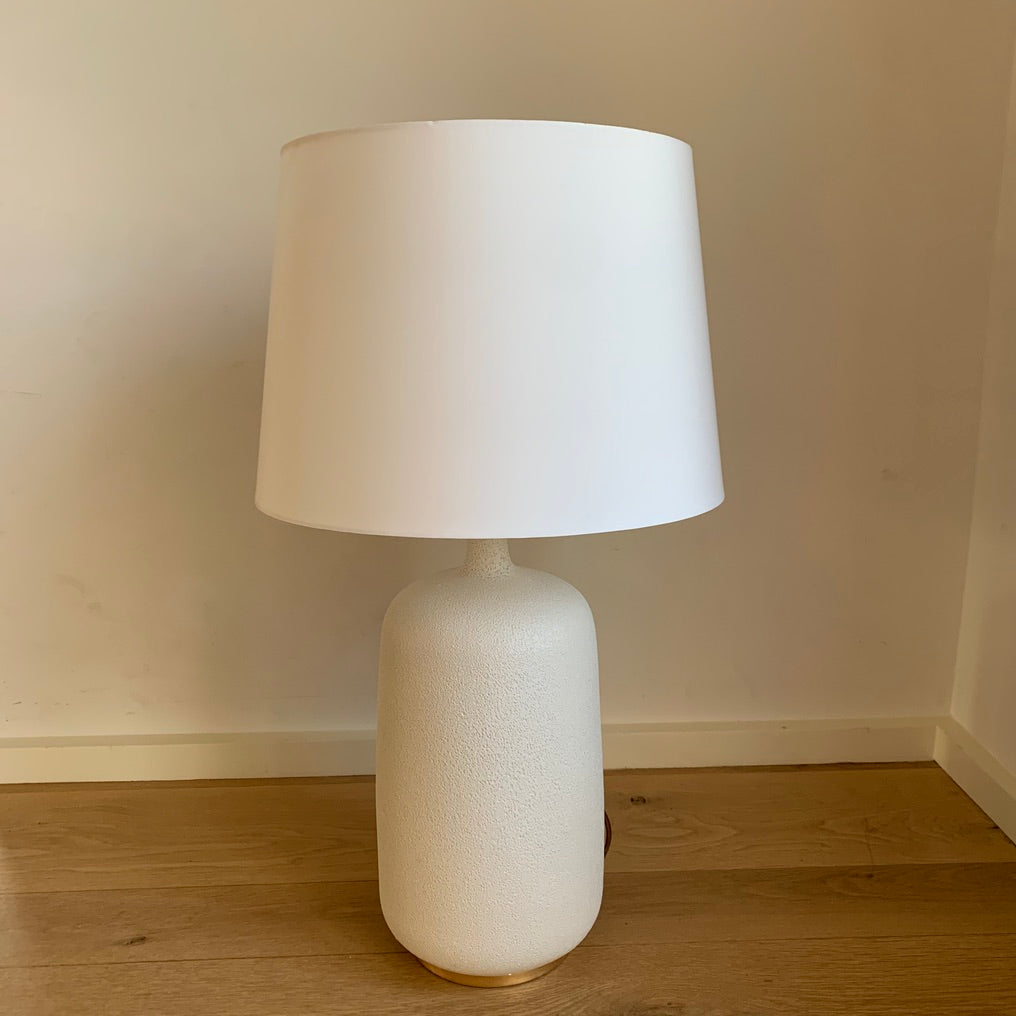 White Textured Lamp