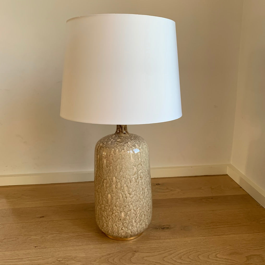 Brown/Taupe Marbleized Lamp