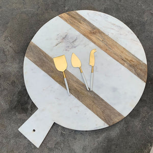 Marble & Wood Cutting Board