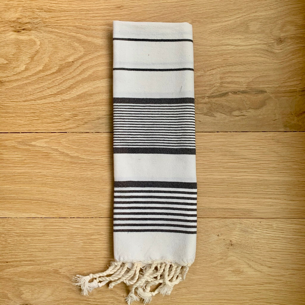 Black & White Turkish Tea Towel Napkin