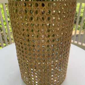 Cane Wrapped Vase - Small