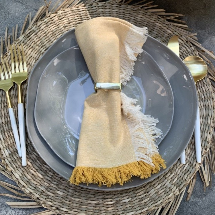 Yellow Fringe Napkin