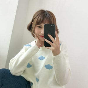 Kawaii Clouds Sweater