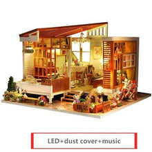 Load image into Gallery viewer, MINI DIY Doll House and dolls Wooden Doll Houses Miniature Dollhouse Furniture Kit with LED Toys for children Christmas Gift - Kawaii-Crafts.com