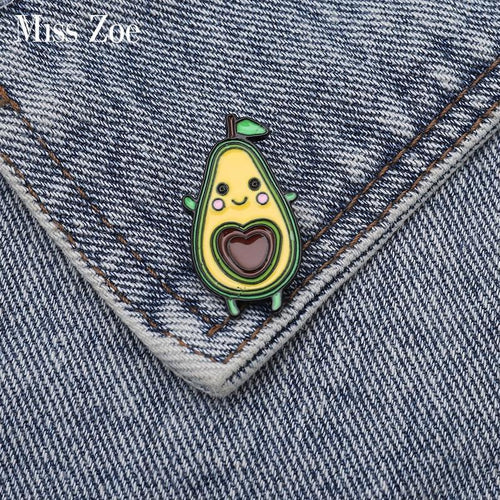 Kawaii Avocado Enamel Pin