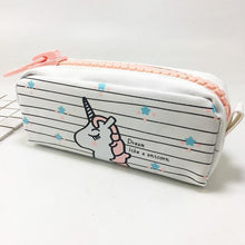 Load image into Gallery viewer, Kawaii Unicorn Zipper Pencil Case Canvas Bag