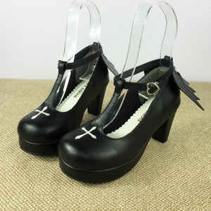 Gothic Lolita T-strap High Heels Shoes