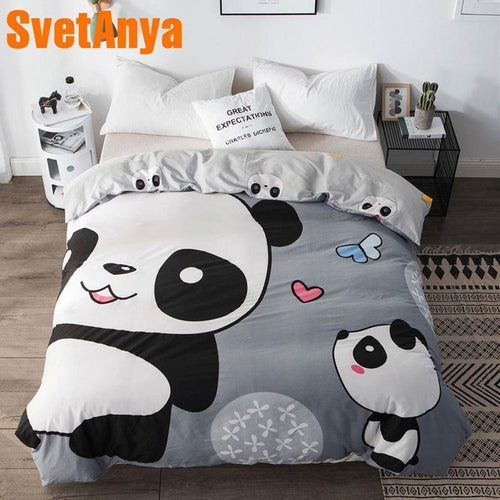 100% Cotton Panda Duvet Cover