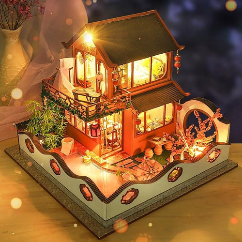 CUTEBEE Kids Toys Doll House Furniture Assemble Wooden Miniature Dollhouse Diy Dollhouse Puzzle Educational Toys For Children - Kawaii-Crafts.com