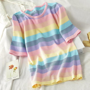 Loose Rainbow Top