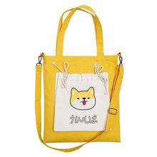 Load image into Gallery viewer, Canvas Shiba Inu Tote