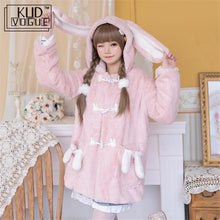 Load image into Gallery viewer, Lolita Pink Winter Overcoat