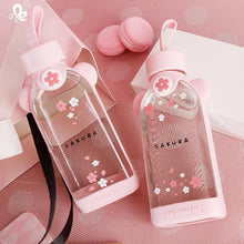 Load image into Gallery viewer, Kawaii Cherry Blossom Glass Bottles