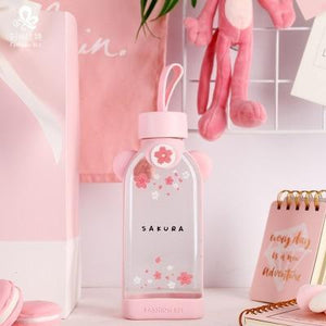 Kawaii Cherry Blossom Glass Bottles