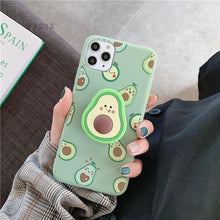 Load image into Gallery viewer, Kawaii Avocado Silicone Phone Case for iPhone