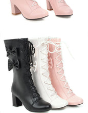Load image into Gallery viewer, Sweet Lolita Lace-Up Boots with Bows