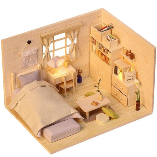 3D Japanese Style Plain Room Assemble Dollroom Furniture Miniature Dollhouse DIY House Room Miniatures Toys for Children - Kawaii-Crafts.com