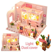 Load image into Gallery viewer, Doll House Miniature Dollhouse With Furniture Kit Wooden House Miniaturas Toys For Children New Year Christmas Gift Doll Machine - Kawaii-Crafts.com