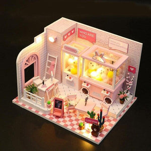Doll House Miniature Dollhouse With Furniture Kit Wooden House Miniaturas Toys For Children New Year Christmas Gift Doll Machine - Kawaii-Crafts.com