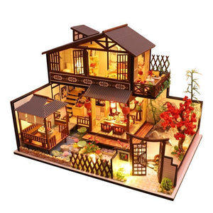 CUTEBEE Kids Toys Doll House Furniture Assemble Wooden Miniature Dollhouse Diy Dollhouse Puzzle Educational Toys For Children P2 - Kawaii-Crafts.com