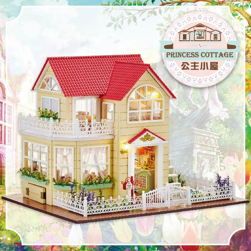 Furniture DIY Doll House Wodden Miniatura Doll Houses Furniture Kit DIY Puzzle Assemble Dollhouse Christmas Toys  gift A033 - Kawaii-Crafts.com