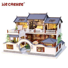 Load image into Gallery viewer, Chinese Manor Dollhouse Kit with LED Lights and Furniture