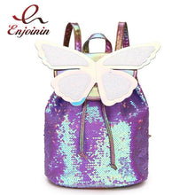Load image into Gallery viewer, Sequins Fairy Butterfly Backpack