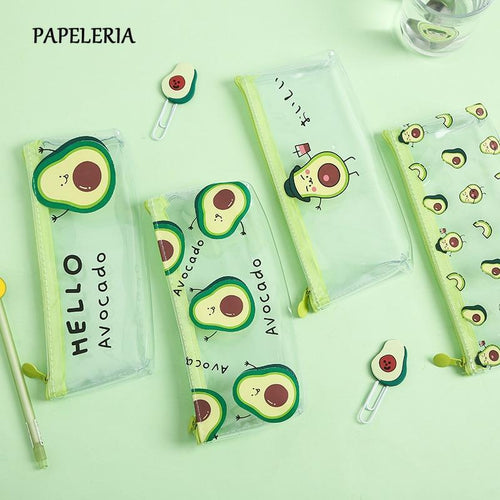 Kawaii Avocado Pencil Case