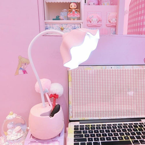 Kawaii LED Night Light Pen Holder