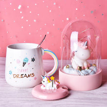 Load image into Gallery viewer, Sweet Dreams Kawaii Unicorn Mug with Lid and Spoon