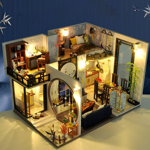 Modern Miniature Chinese Dollhouse Kit