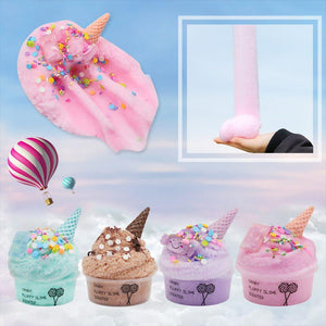 60ml Cotton Candy Cloud Ice Cream Cone Slime