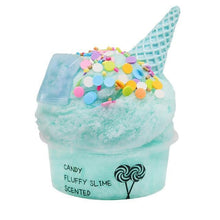 Load image into Gallery viewer, 60ml Cotton Candy Cloud Ice Cream Cone Slime