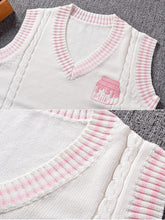 Load image into Gallery viewer, Strawberry Milk Embroidered Vest